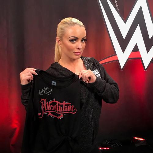 Photo of Mandy Rose WORN & SIGNED T-Shirt (RAW - 1/1/18)