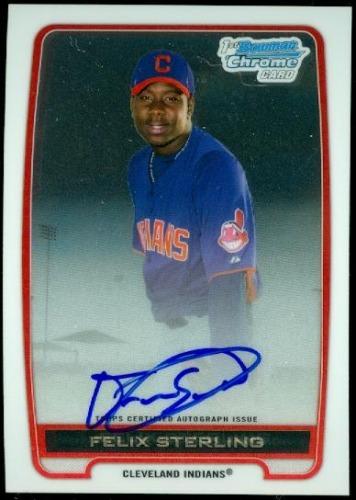 Photo of 2012 Bowman Chrome Prospect Autographs #FS Felix Sterling