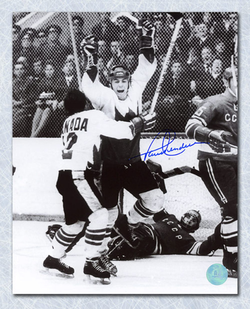Paul Henderson Team Canada Autographed 1972 Series Winning Goal 8x10 Photo
