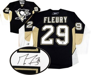 Marc Andre Fleury - Signed Pittsburgh Penguins Dark Replica Jersey