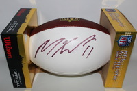 DOLPHINS - MIKE WALLACE SIGNED PANEL BALL (SLIGHT SMUDGE)
