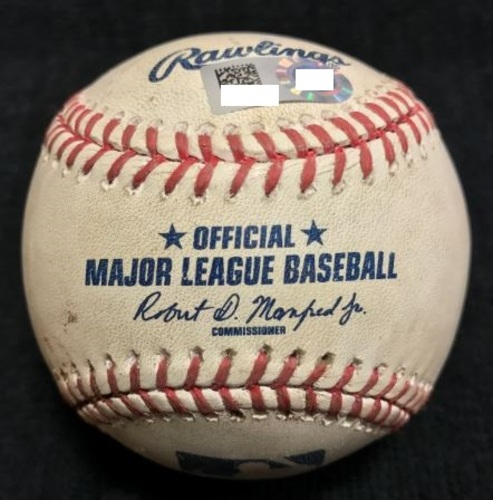 Photo of Game-Used Baseball from Pirates vs. Giants on 6/21/2016 - Schugel to Crawford, Single