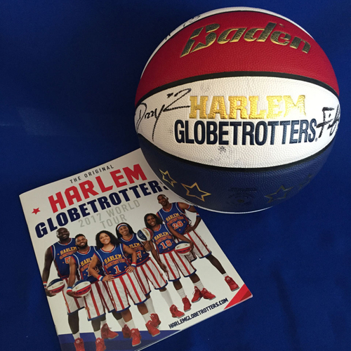 Photo of UMPS CARE AUCTION: Harlem Globetrotters Signed Basketball and 2017 World Tour Program