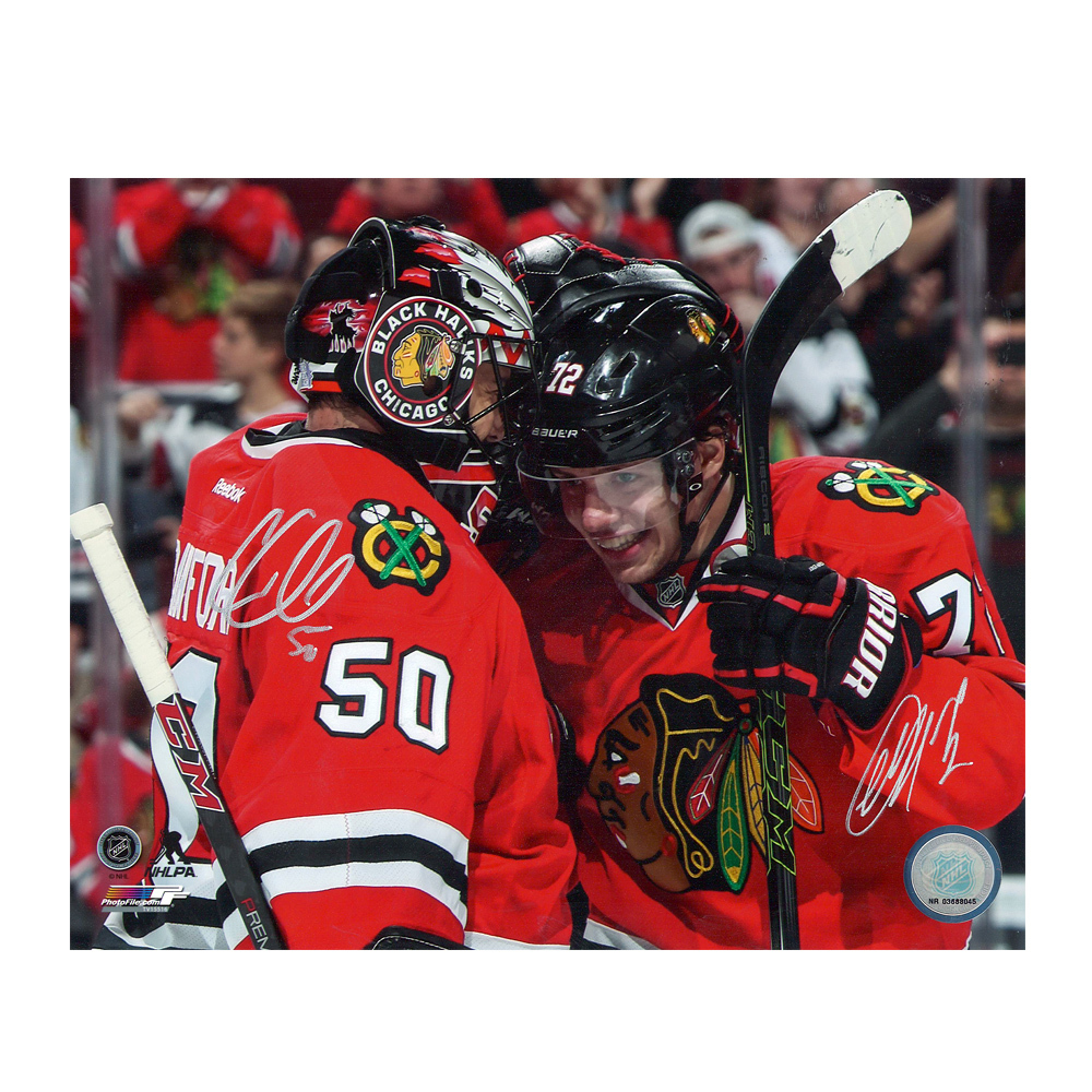 COREY CRAWFORD & ARTEMI PANARIN Signed Chicago Blackhawks 8 X 10 Photo - 70511
