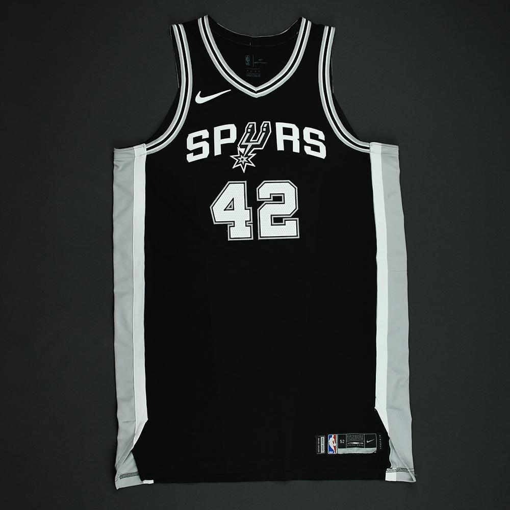 Davis Bertans - San Antonio Spurs - 2018 NBA Playoffs Game-Worn Jersey