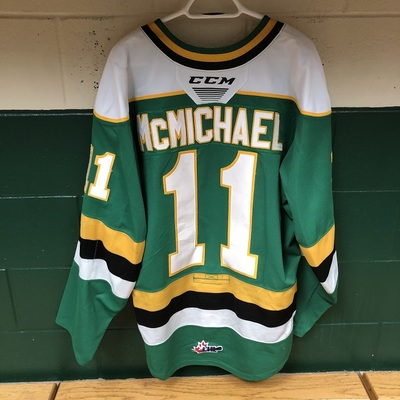 Connor McMichael 2019-2020 Green Game Jersey