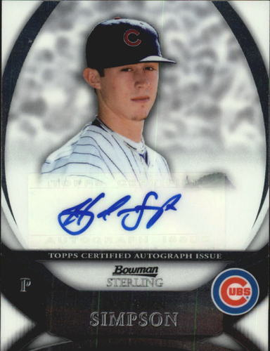 Photo of 2010 Bowman Sterling Prospect Autographs #HS Hayden Simpson