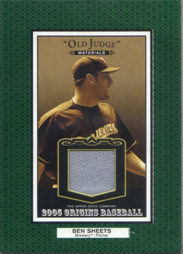 Photo of 2005 Origins Old Judge Materials Jersey #BS Ben Sheets