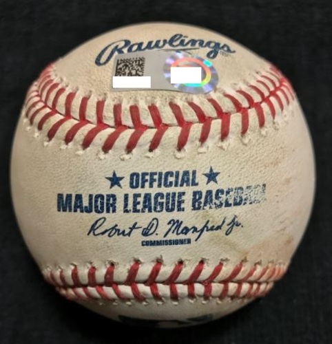 Photo of Game-Used Baseball from Pirates vs. Mariners on 7/26/2016 - Liriano to Cruz, Pitch in the Dirt