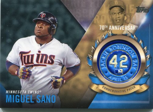 Photo of 2017 Topps Jackie Robinson Logo Patches #JRPCMSA Miguel Sano