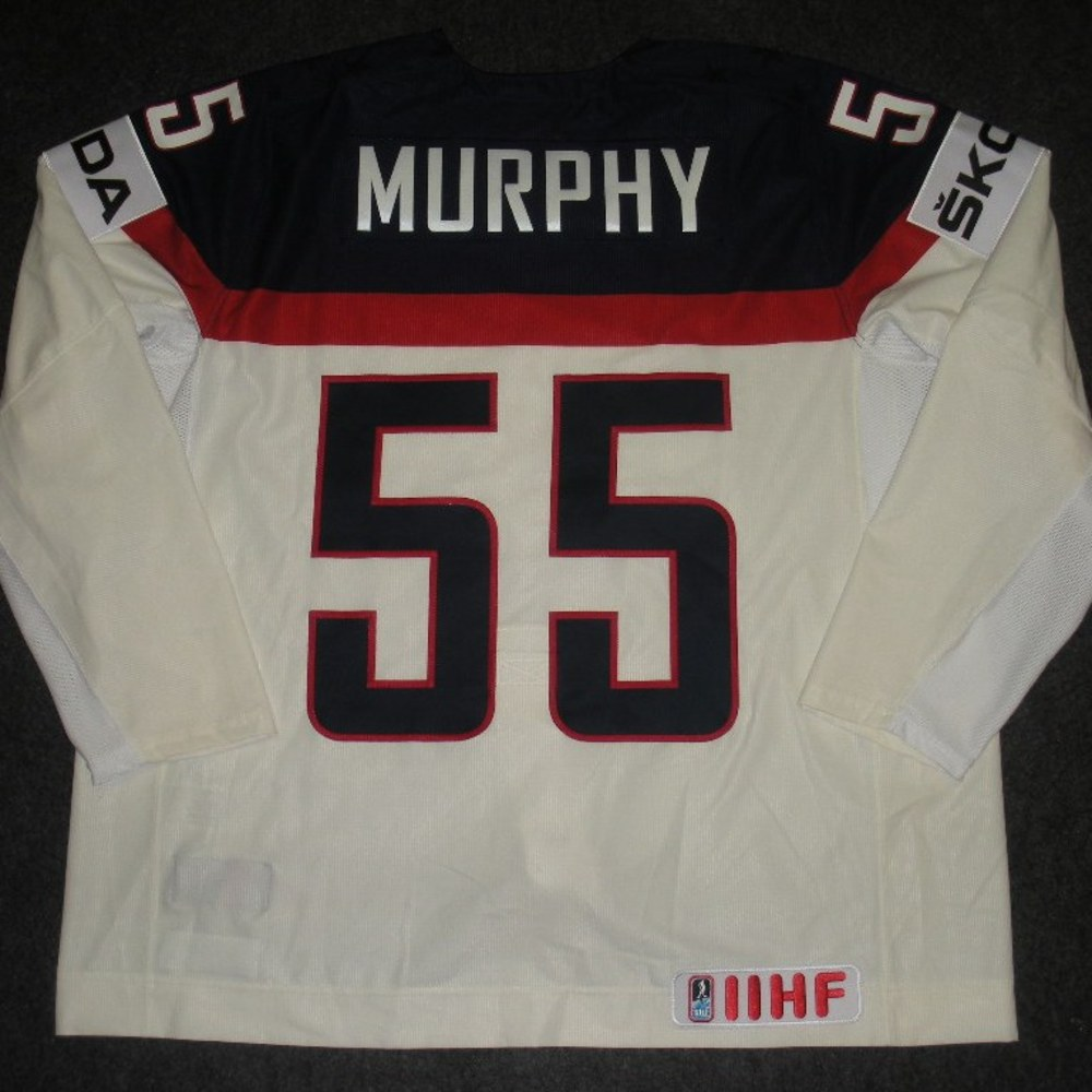 Connor Murphy - 2014 IIHF Mens World Championship - Team USA White Game-Worn Jersey - Worn on 5/9/14, 5/15/14 and 5/20/14