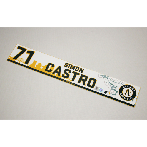 Photo of Simon Castro #71 2017 Team-Issued Home Clubhouse Locker Nameplate