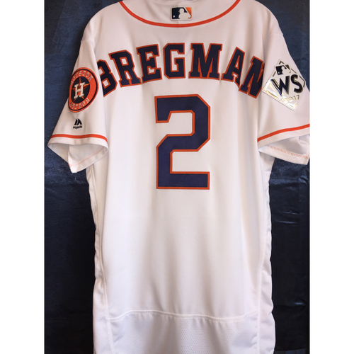 Photo of 2017 World Series Game 4 - Alex Bregman Game-Used Home Jersey