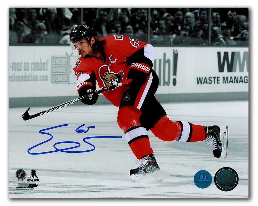 Erik Karlsson Ottawa Senators Autographed Hockey Spotlight 8x10 Photo