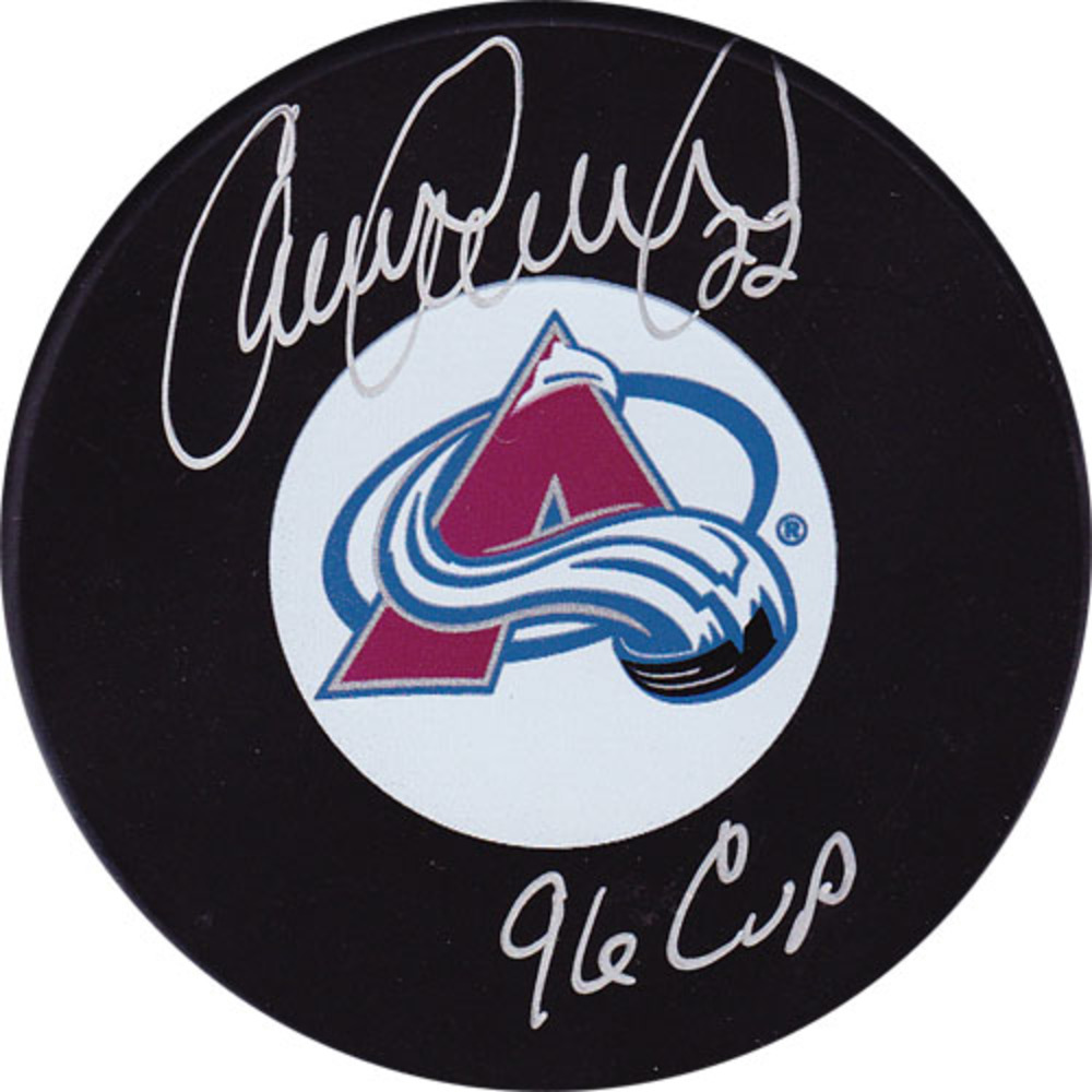 Claude Lemieux Autographed Colorado Avalanche Puck w/96 CUP Inscription