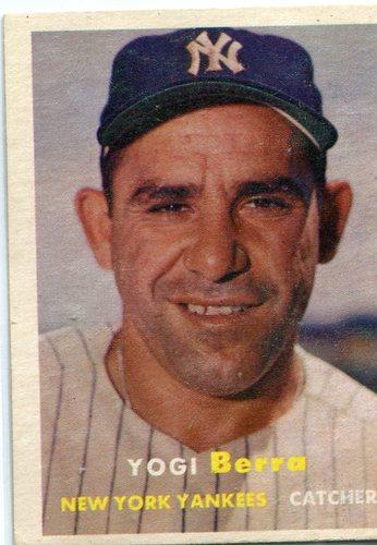 Photo of 1957 Topps #2 Yogi Berra -- Yankees Hall of Famer