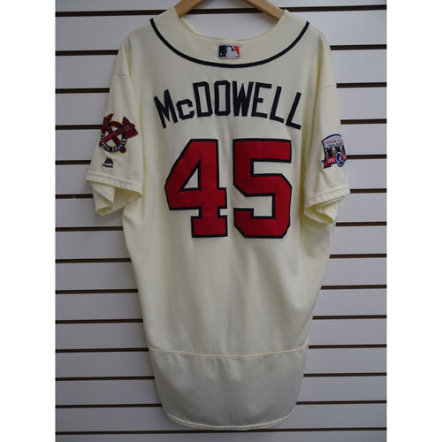 Photo of Roger McDowell Game-Used Jersey Worn during the Final Game at Turner Field