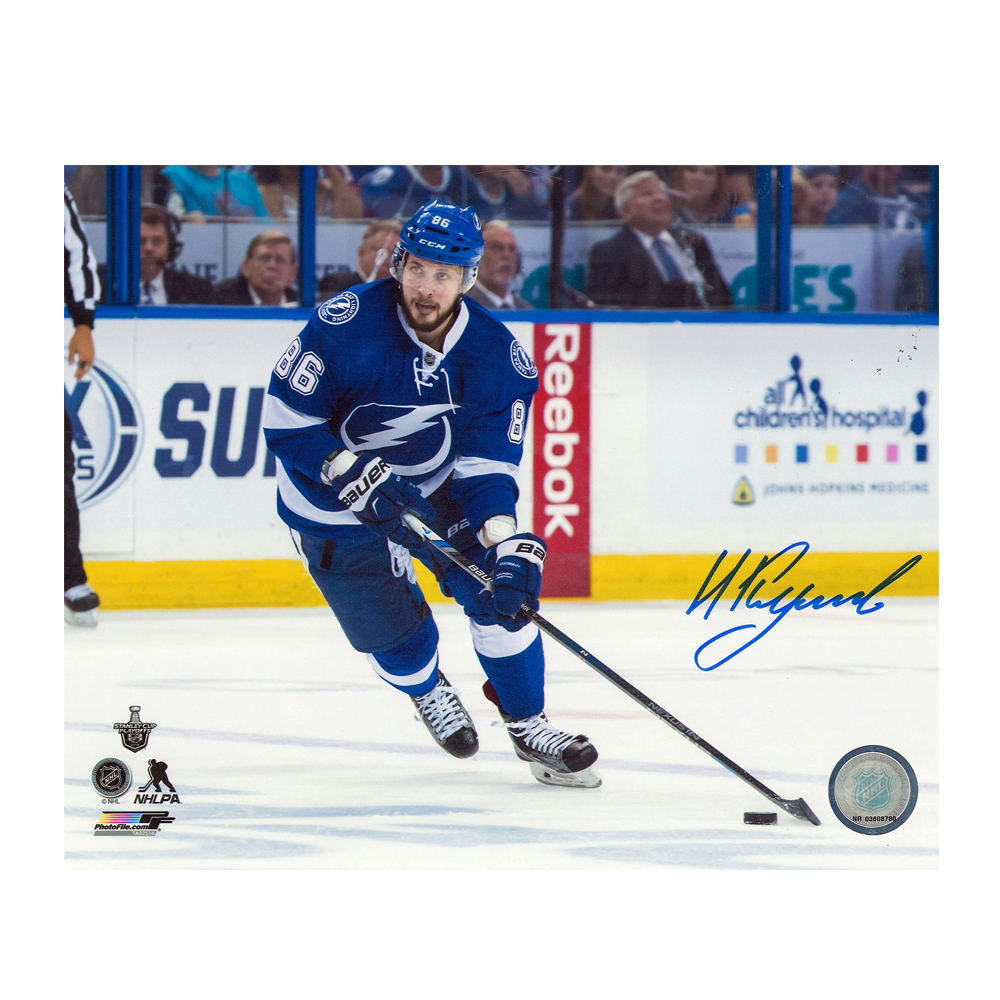 NIKITA KUCHEROV Signed Tampa Bay Lightning 8 X 10 Photo - 70093