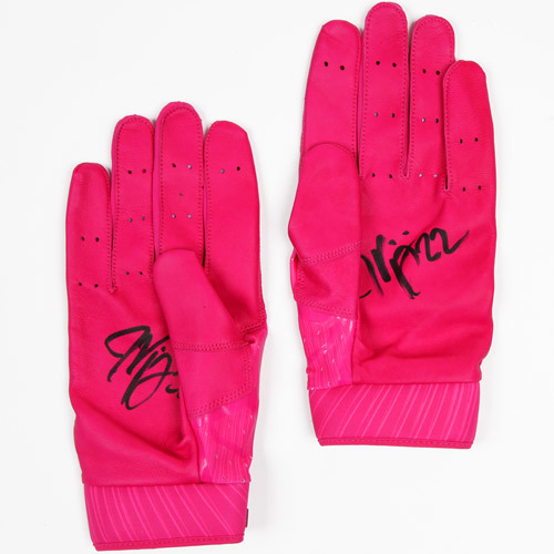 Photo of 2017 Mother's Day Pink Auction - Jason Kipnis Game-Used & Autographed Pink Batting Gloves