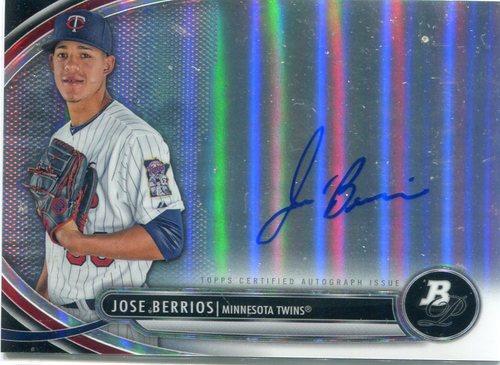 Photo of 2013 Bowman Platinum Prospect Autographs #JB Jose Berrios -- Twins post-season