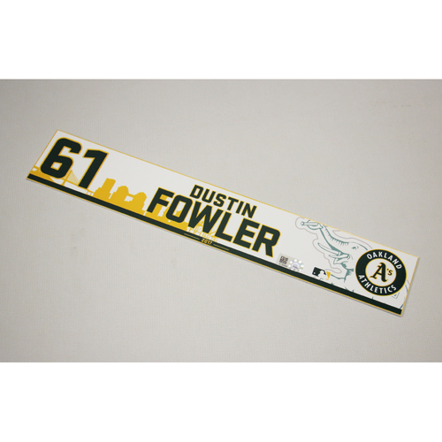 Dustin Fowler 2017 Home Clubhouse Locker Nameplate