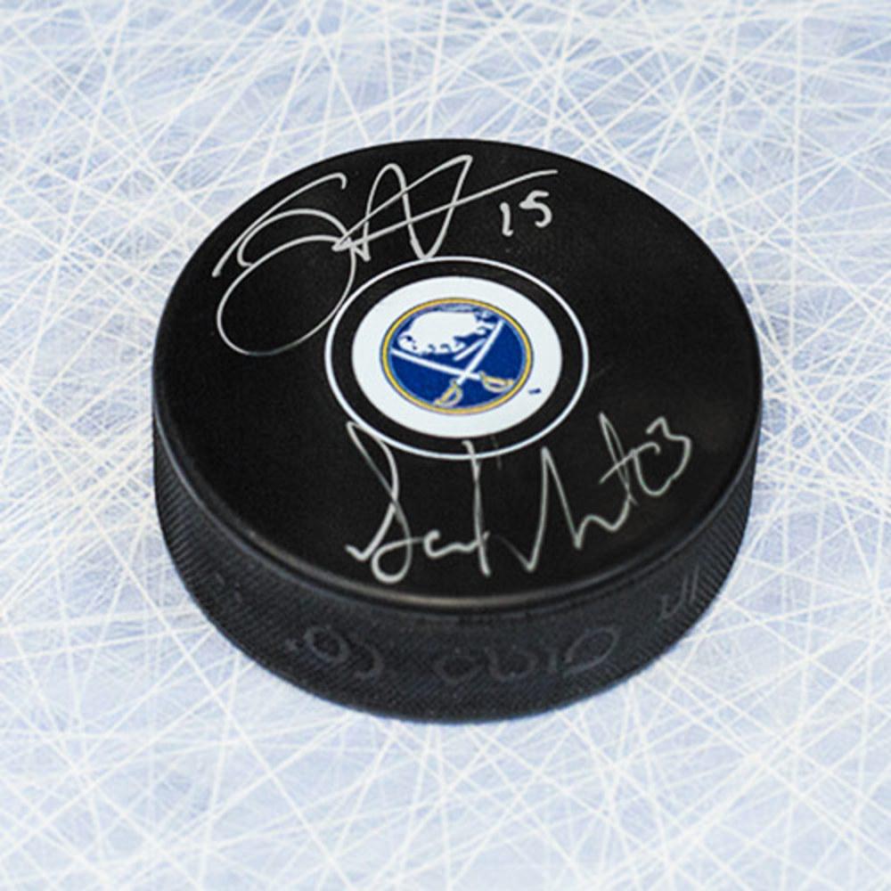 Jack Eichel & Sam Reinhart Buffalo Sabres Dual Signed #2 Draft Pick Hockey Puck
