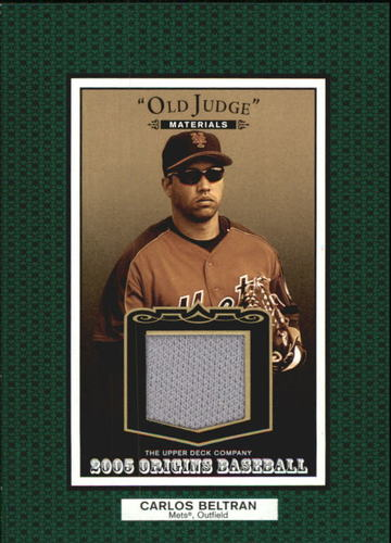 Photo of 2005 Origins Old Judge Materials Jersey #CB Carlos Beltran
