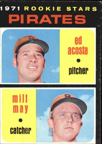 Photo of 1971 Topps #343 Rookie Stars/Ed Acosta RC/Milt May RC