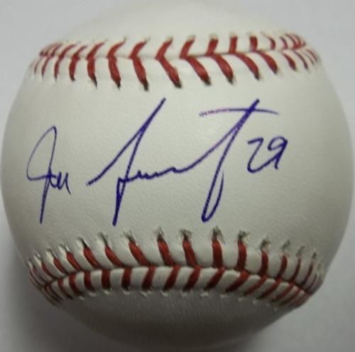 Photo of Jeff Samardzija Autographed Baseball