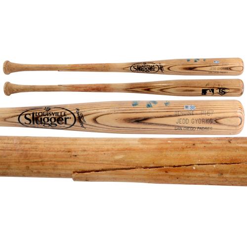 Photo of Jedd Gyorko Padres Game-Used Broken Louisville Slugger Bat vs. Miami Marlins on July 25, 2015