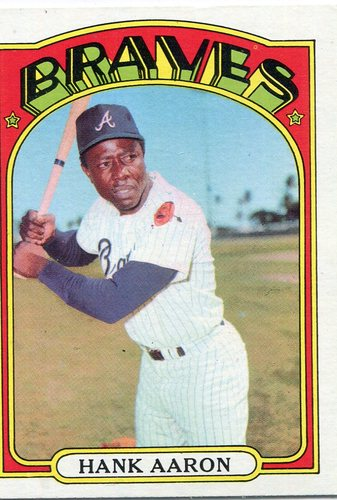 Photo of 1972 Topps #299 Hank Aaron Hall of Famer