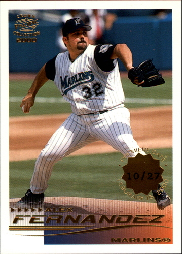 Photo of 2000 Pacific Crown Collection Premiere Date #112 Alex Fernandez