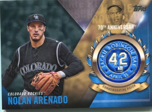 Photo of 2017 Topps Jackie Robinson Logo Patches #JRPCNA Nolan Arenado