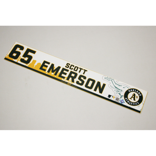 Photo of Scott Emerson 2017 Home Clubhouse Locker Nameplate