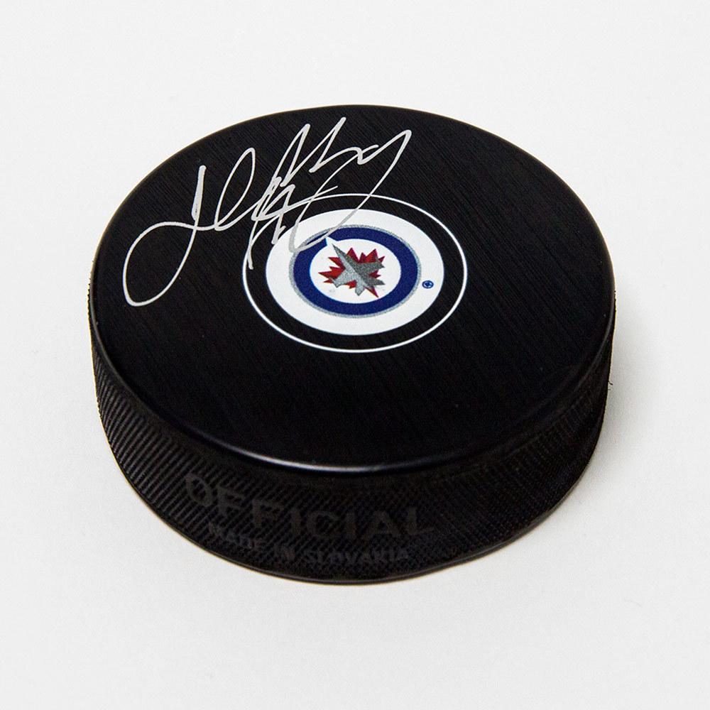Josh Morrissey Winnipeg Jets Signed Autograph Model Hockey Puck