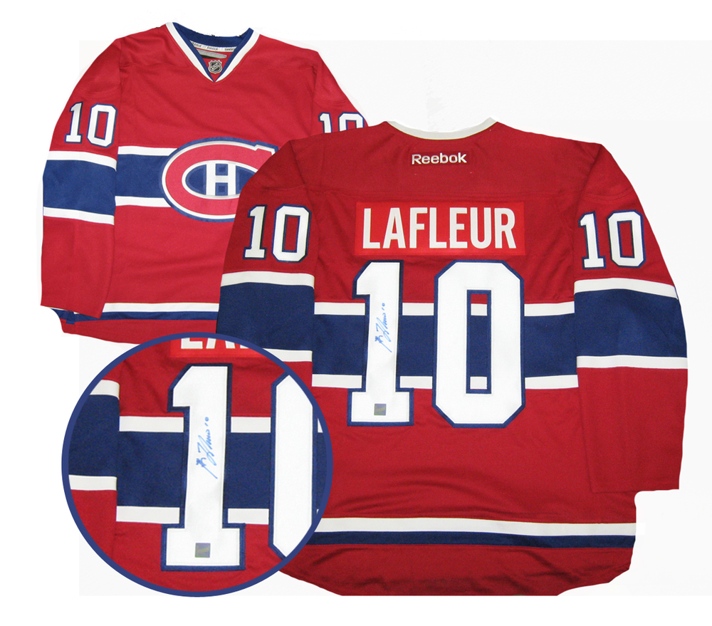 Guy Lafleur - Signed Reebok Premier Montreal Canadiens Red Jersey