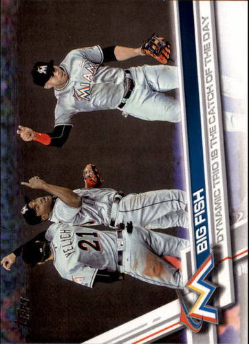 Photo of 2017 Topps #276 Christian Yelich/Marcell Ozuna/Giancarlo Stanton/Big Fish