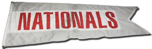 Wrigley Field Collection -- Rooftop Flag -- Nationals