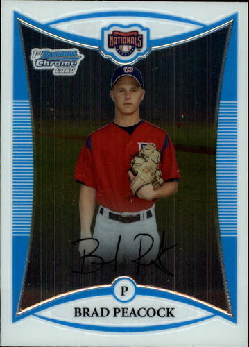 Photo of 2008 Bowman Chrome Prospects #BCP180 Brad Peacock -- Astros post-season