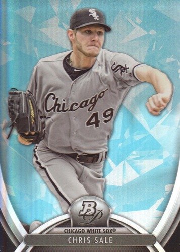 Photo of 2013 Bowman Platinum Sapphire #97 Chris Sale -- Red Sox post-season