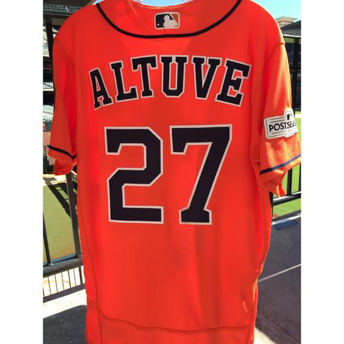 Photo of ALCS Game 4 Jose Altuve Game-Used Orange Jersey