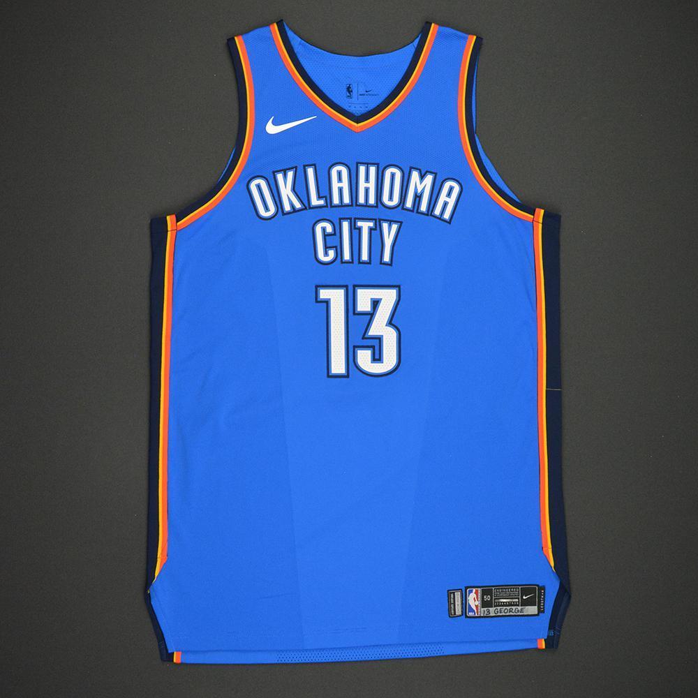 Paul George - Oklahoma City Thunder - Kia NBA Tip-Off 2017 - Game-Worn Jersey