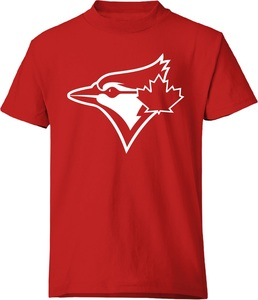 Toronto Blue Jays Youth Secondary Tonal Logo Red by Bulletin