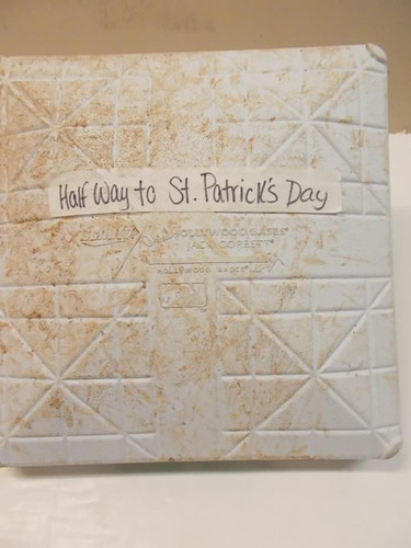 Photo of Game-Used Base: Half Way to St. Patrick's Day