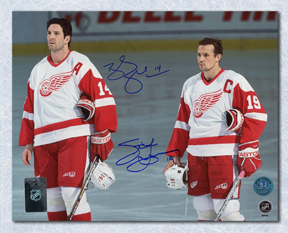 Steve Yzerman & Brendan Shanahan Detroit Red Wings Dual Signed 16x20 Photo