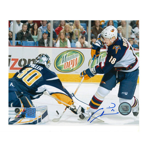 MARIAN HOSSA Signed Atlanda Thrashers 8 X 10 Photo - 70372 Chicago Blackhawks