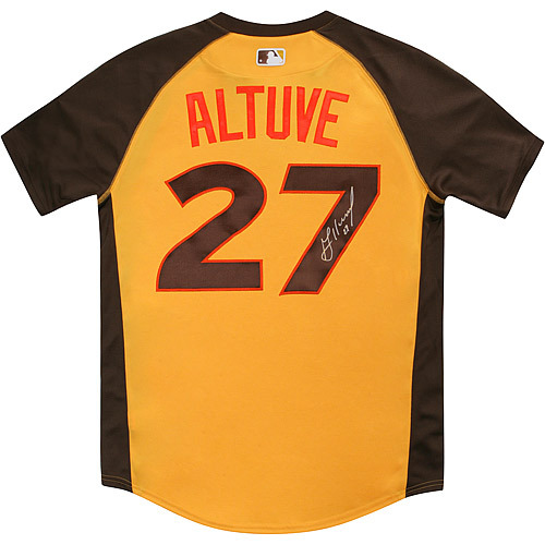 Photo of Jose Altuve 2016 Major League Baseball Workout Day/Home Run Derby Autographed Jersey