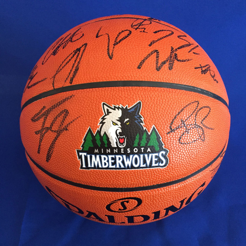 Photo of UMPS CARE AUCTION: Minnesota Timberwolves Team Signed Basketball (not all players)