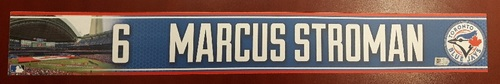 Authenticated Game Used Locker Name Plate - #6 Marcus Stroman (2015 Season)