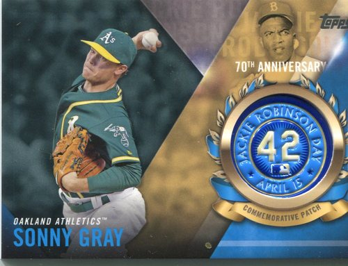 Photo of 2017 Topps Jackie Robinson Logo Patches #JRPCSG Sonny Gray